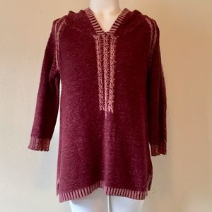 NATURAL REFLECTIONS Raspberry Pink Hooded Sweater
